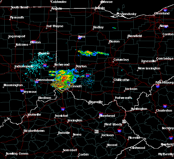 Radar Image for Severe Thunderstorms near Amberley, OH at 8/3/2015 5:58 PM EDT