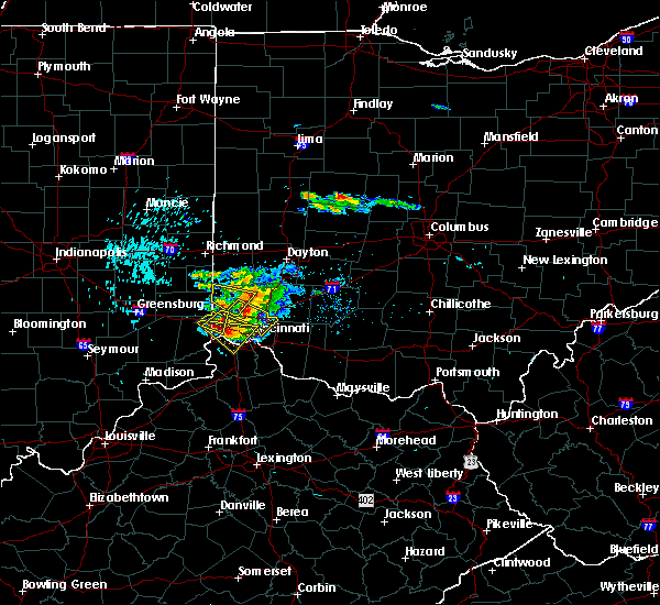 Radar Image for Severe Thunderstorms near Cleves, OH at 8/3/2015 6:02 PM EDT