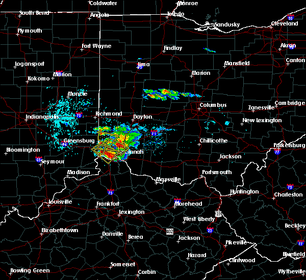 Radar Image for Severe Thunderstorms near Trenton, OH at 8/3/2015 6:10 PM EDT