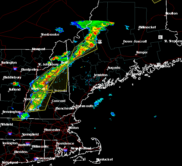 Radar Image for Severe Thunderstorms near Bartlett, NH at 8/3/2015 6:17 PM EDT