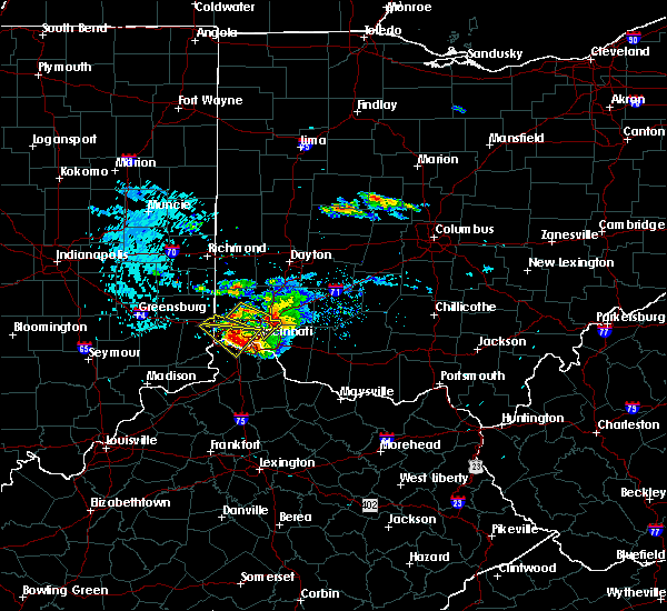 Radar Image for Severe Thunderstorms near Pleasant Plain, OH at 8/3/2015 6:21 PM EDT