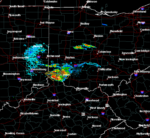 Radar Image for Severe Thunderstorms near Bridgetown, OH at 8/3/2015 6:29 PM EDT