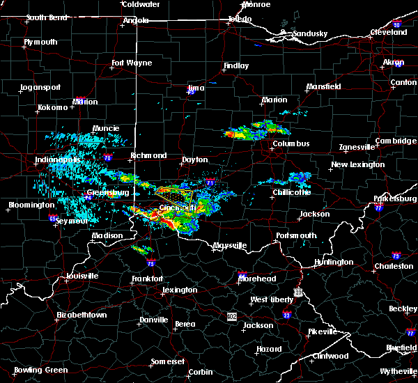 Radar Image for Severe Thunderstorms near Lebanon, OH at 8/3/2015 6:56 PM EDT