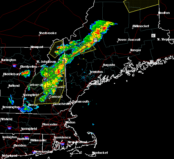 Radar Image for Severe Thunderstorms near Bridgton, ME at 8/3/2015 6:58 PM EDT