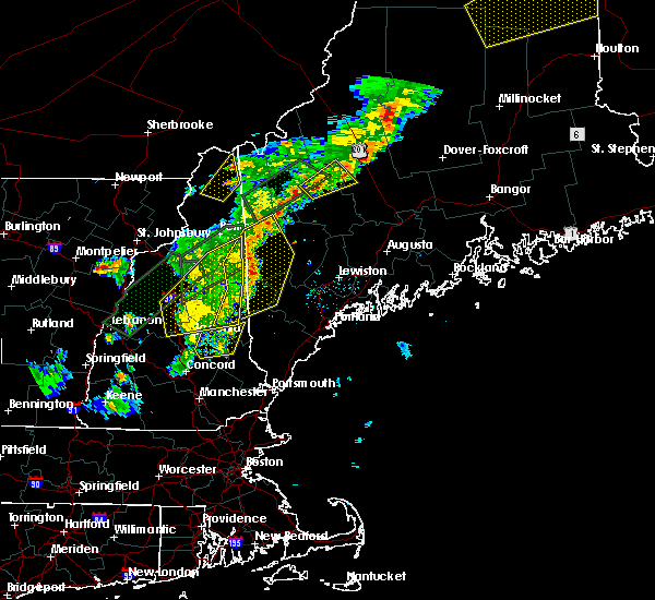 Radar Image for Severe Thunderstorms near Bartlett, NH at 8/3/2015 7:13 PM EDT