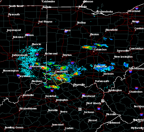 Radar Image for Severe Thunderstorms near Cincinnati, OH at 8/3/2015 7:17 PM EDT
