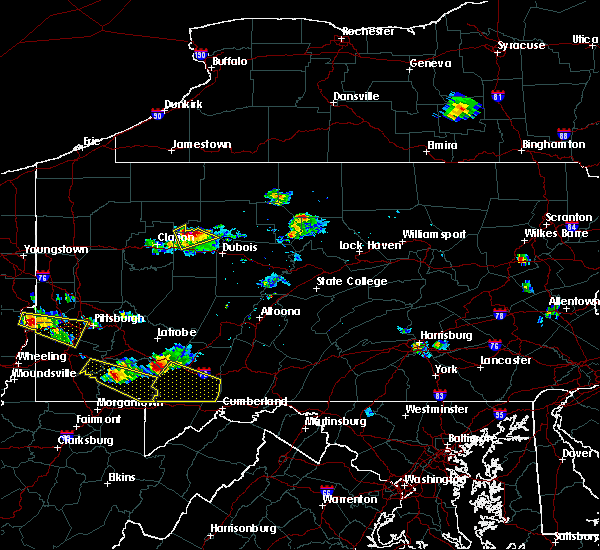 Radar Image for Severe Thunderstorms near James City, PA at 8/3/2015 7:19 PM EDT