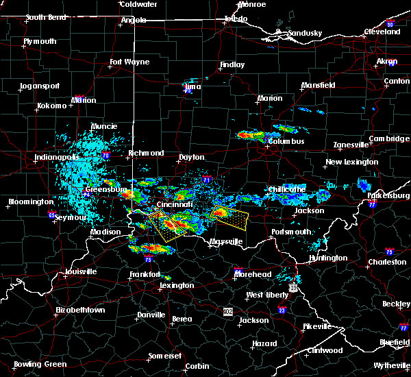 Radar Image for Severe Thunderstorms near Sinking Spring, OH at 8/3/2015 7:23 PM EDT
