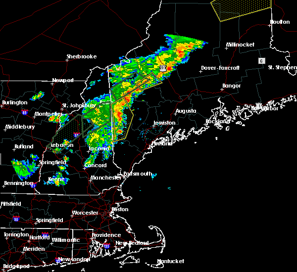 Radar Image for Severe Thunderstorms near Bridgton, ME at 8/3/2015 7:26 PM EDT