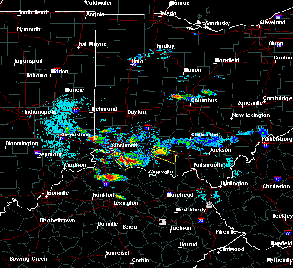 Radar Image for Severe Thunderstorms near Felicity, OH at 8/3/2015 7:29 PM EDT