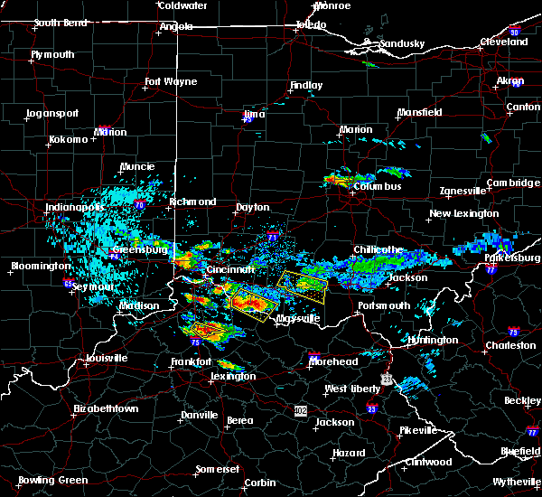 Radar Image for Severe Thunderstorms near Sinking Spring, OH at 8/3/2015 7:40 PM EDT