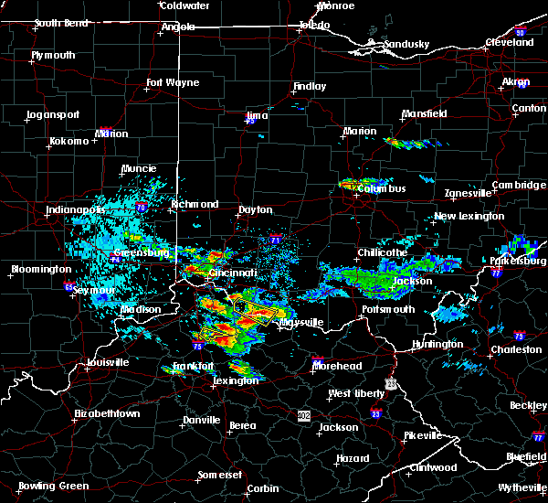 Radar Image for Severe Thunderstorms near Lebanon, OH at 8/3/2015 7:54 PM EDT