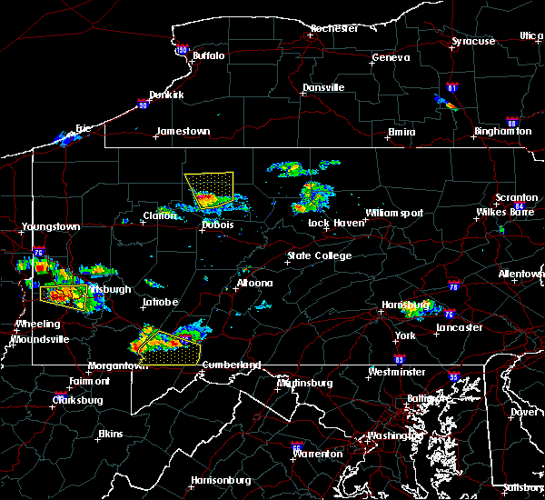 Radar Image for Severe Thunderstorms near Ridgway, PA at 8/3/2015 7:53 PM EDT