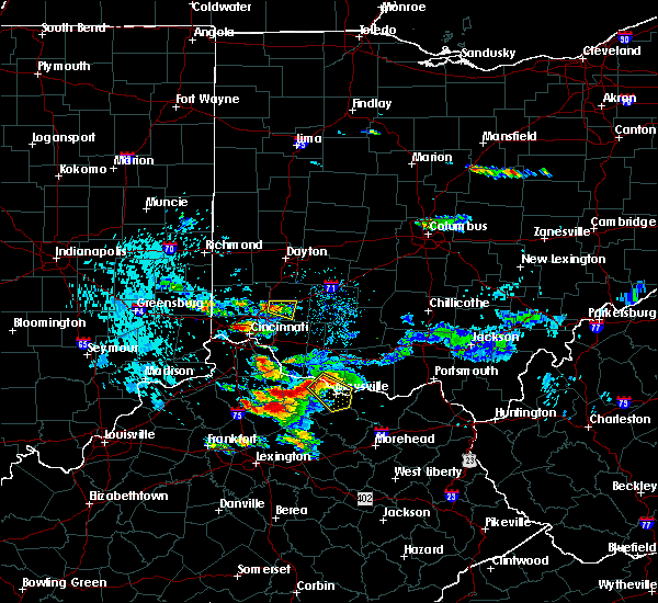 Radar Image for Severe Thunderstorms near Mason, OH at 8/3/2015 8:06 PM EDT