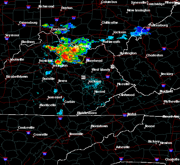 Radar Image for Severe Thunderstorms near Elizaville, KY at 8/3/2015 8:29 PM EDT