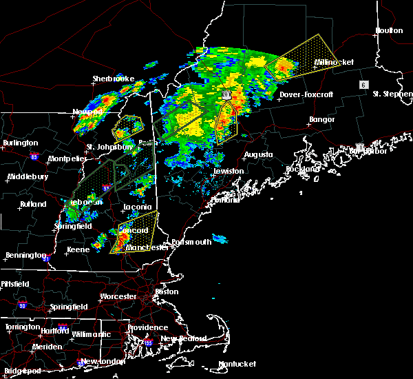 Radar Image for Severe Thunderstorms near Raymond, NH at 8/3/2015 8:31 PM EDT