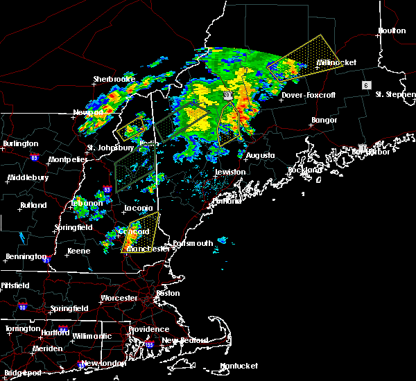 Radar Image for Severe Thunderstorms near Raymond, NH at 8/3/2015 8:44 PM EDT