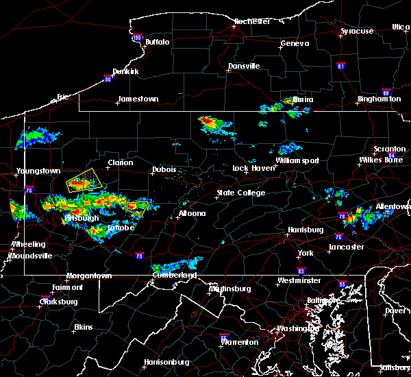 Radar Image for Severe Thunderstorms near Clymer, PA at 8/3/2015 9:15 PM EDT