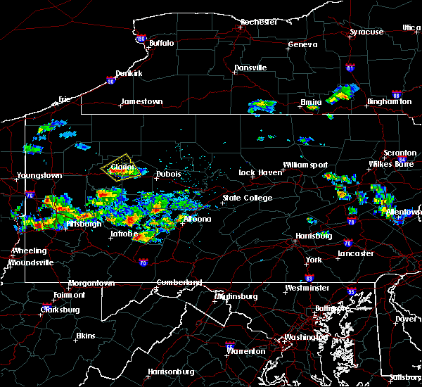 Radar Image for Severe Thunderstorms near Marianne, PA at 8/3/2015 10:08 PM EDT