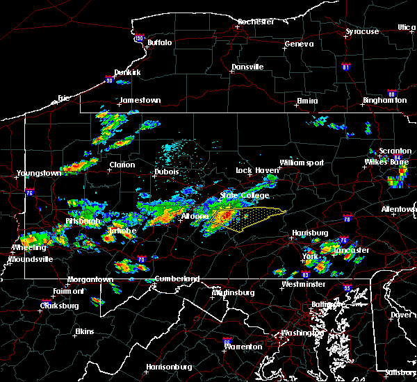 Radar Image for Severe Thunderstorms near Strodes Mills, PA at 8/3/2015 11:38 PM EDT