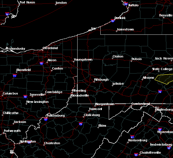 Radar Image for Severe Thunderstorms near Bolivar, PA at 8/3/2015 11:42 PM EDT