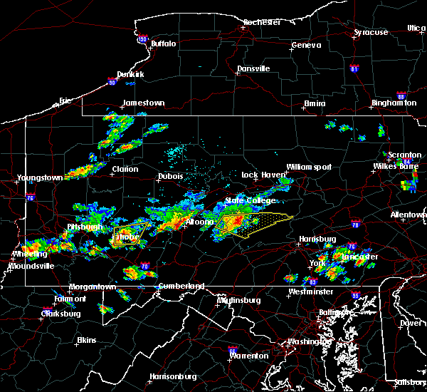 Radar Image for Severe Thunderstorms near Strodes Mills, PA at 8/3/2015 11:49 PM EDT