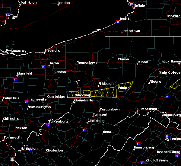 Radar Image for Severe Thunderstorms near Ellsworth, PA at 8/4/2015 12:16 AM EDT