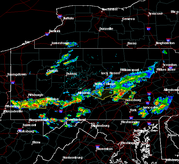 Radar Image for Severe Thunderstorms near Longfellow, PA at 8/4/2015 12:46 AM EDT