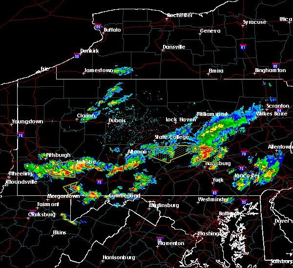 Radar Image for Severe Thunderstorms near New Buffalo, PA at 8/4/2015 12:58 AM EDT