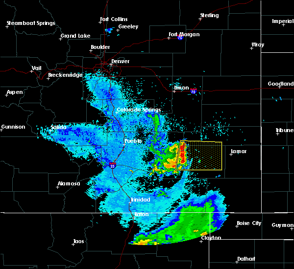 Radar Image for Severe Thunderstorms near La Junta, CO at 8/3/2015 11:07 PM MDT