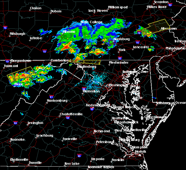 Radar Image for Severe Thunderstorms near Chewsville, MD at 8/4/2015 2:16 AM EDT