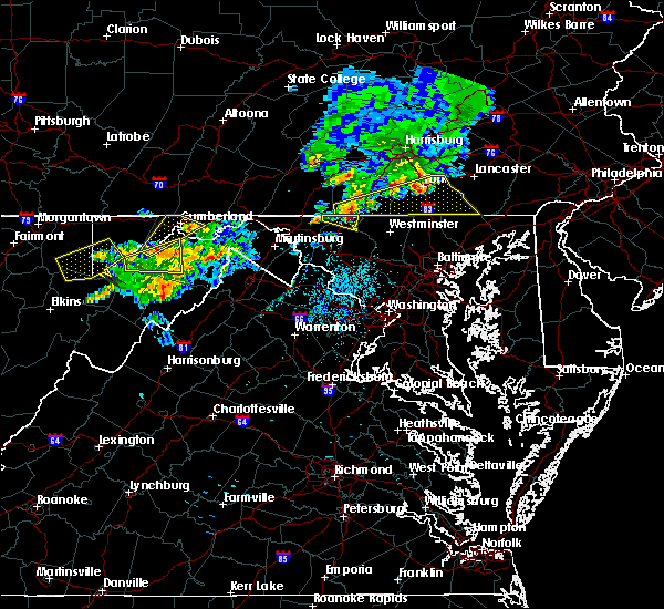 Radar Image for Severe Thunderstorms near McCoole, MD at 8/4/2015 2:58 AM EDT