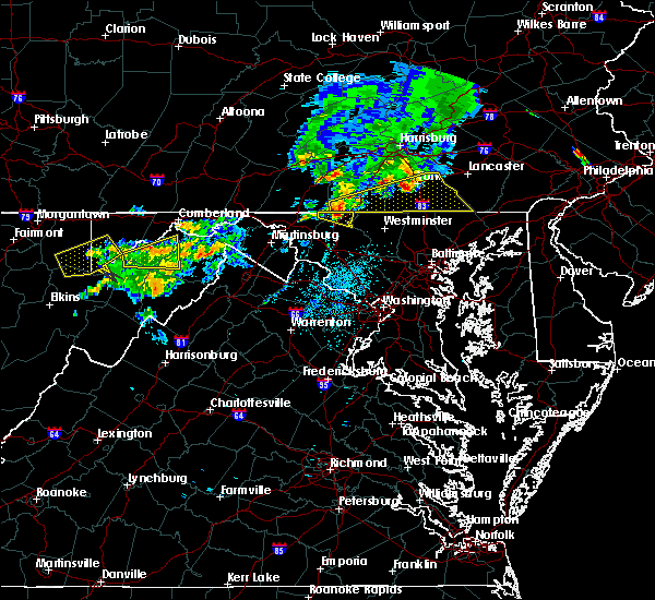 Radar Image for Severe Thunderstorms near Hanover, PA at 8/4/2015 2:57 AM EDT