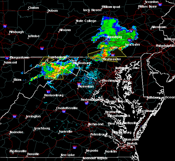 Radar Image for Severe Thunderstorms near Dawson, MD at 8/4/2015 3:25 AM EDT