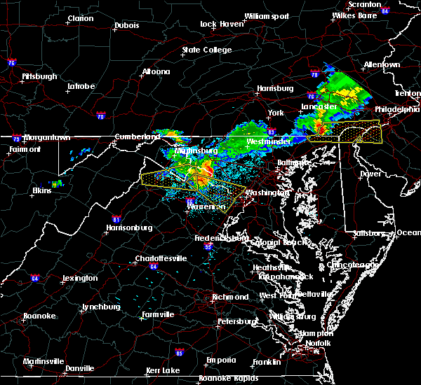 Radar Image for Severe Thunderstorms near Olney, MD at 8/4/2015 4:25 AM EDT