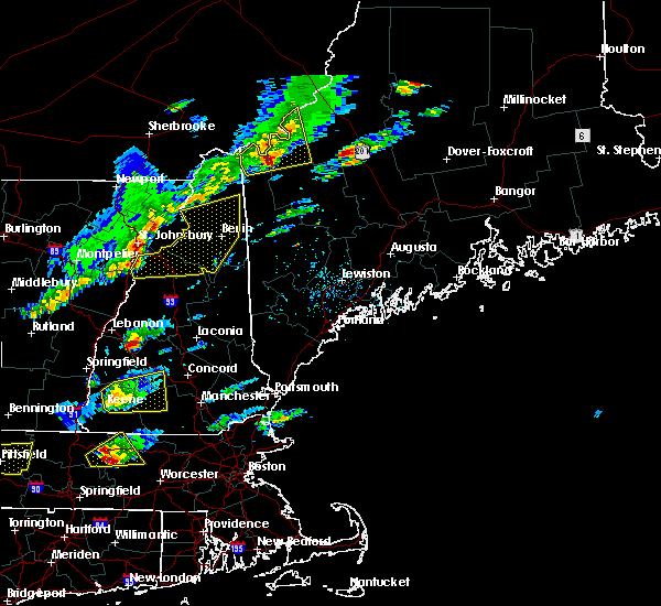 Radar Image for Severe Thunderstorms near Berlin, NH at 8/4/2015 1:27 PM EDT