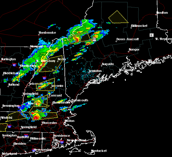 Radar Image for Severe Thunderstorms near Berlin, NH at 8/4/2015 1:48 PM EDT