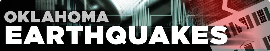 Oklahoma Recent Earthquakes Map