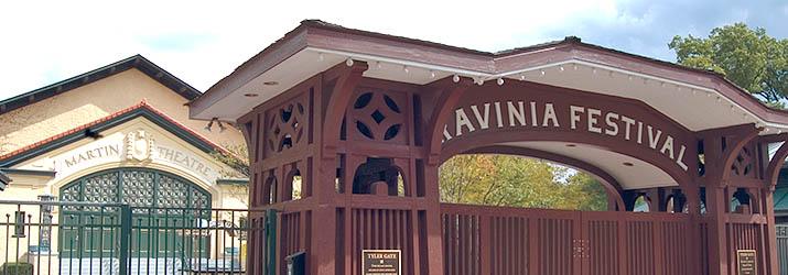 ravinia's main tyler gate and martin theatre