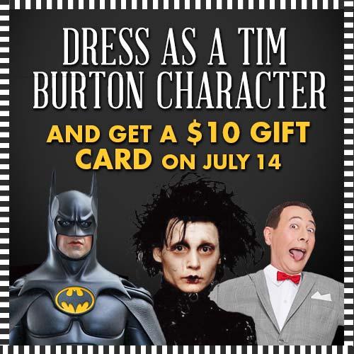 Burton costume deal