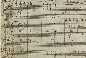 Mozart written music