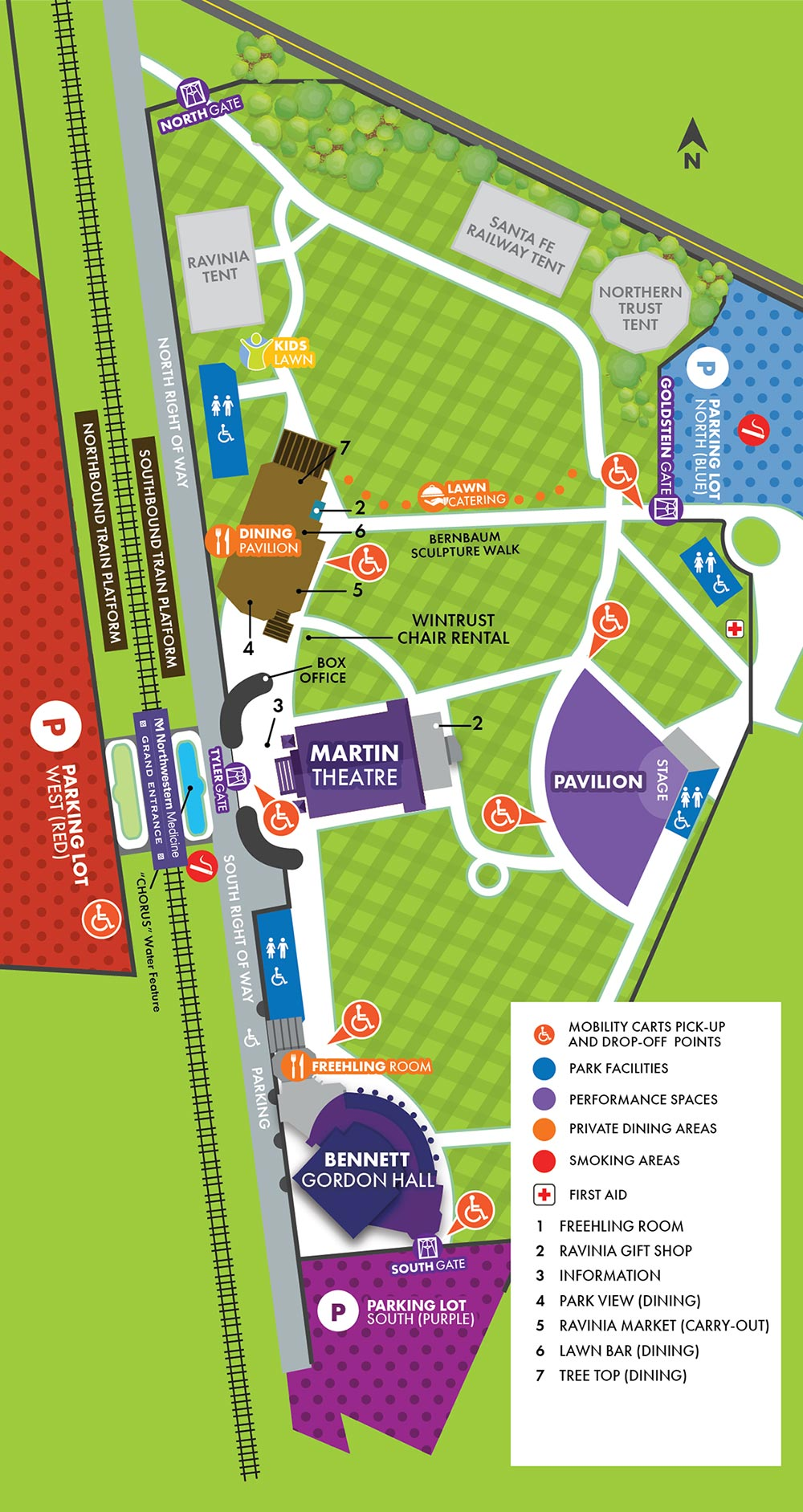 Mobility Cart Pick Up/Drop Off Park Map