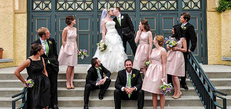 Wedding Party on Martin Theatre steps