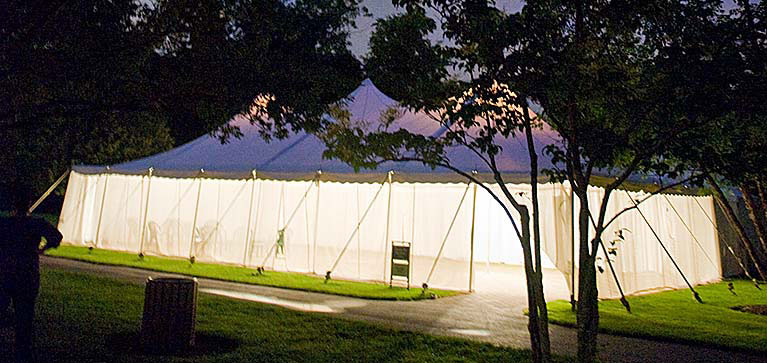tent event at night