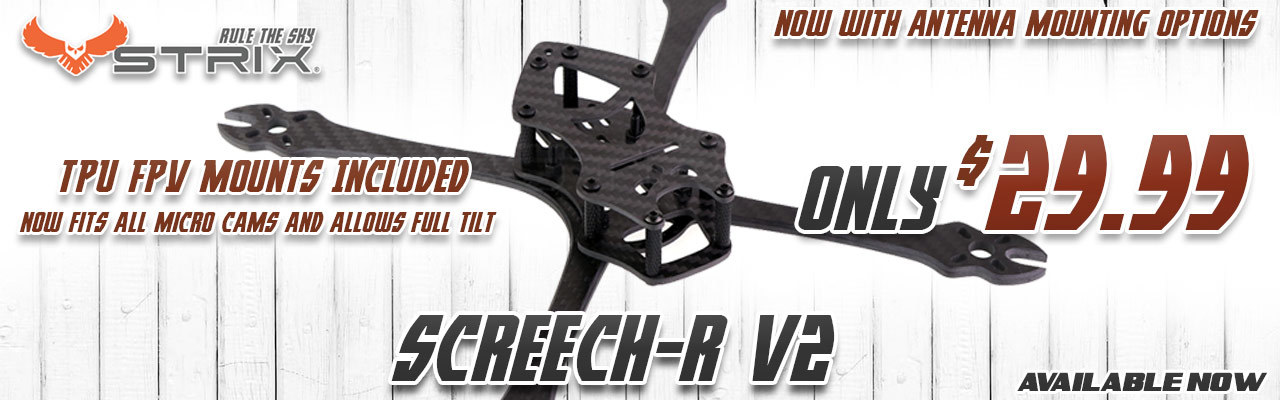 STRIX Screech-R FPV Drone Racing Frame KIt