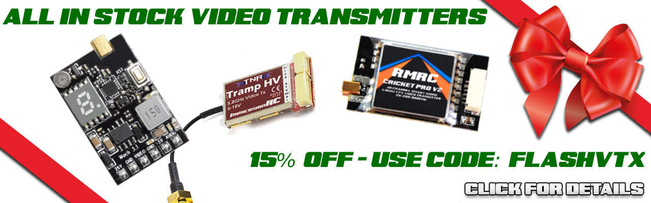 Save 15% on IN STOCK Video Transmitters