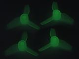 RakonHeli 3 Blade Clear Propeller (2CW,2CCW) - Glow