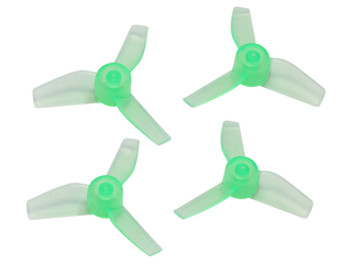 RakonHeli 3 Blade Clear Propeller (2CW,2CCW) 40mm - Green