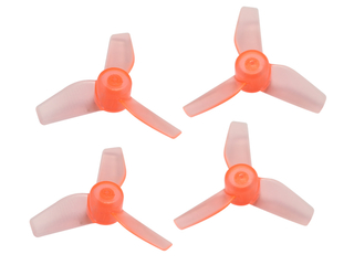 RakonHeli 3 Blade Clear Propeller (2CW,2CCW) 40mm - Orange