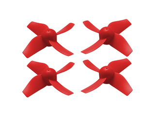 RakonHeli 4 Blade Propeller (2CW+2CCW) 31mm - RED